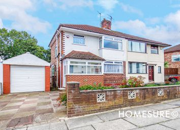 Thumbnail 3 bed semi-detached house for sale in Manor Way, Woolton, Liverpool