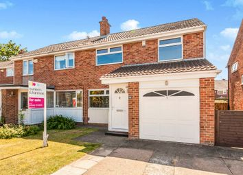 Thumbnail 3 bed semi-detached house for sale in Scotforth Close, Marton-In-Cleveland, Middlesbrough