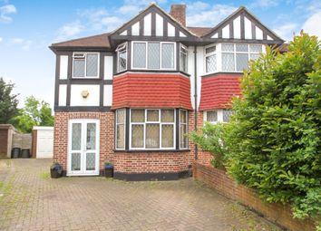 Thumbnail 3 bedroom semi-detached house to rent in Portland Avenue, New Malden, Surrey