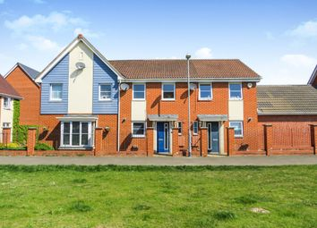 Thumbnail 2 bed terraced house for sale in St Simon Close, Costessey, Norwich