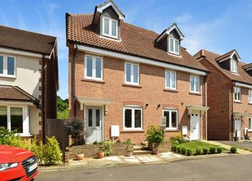 Thumbnail 3 bed semi-detached house for sale in Orchard Close, Burgess Hill, West Sussex
