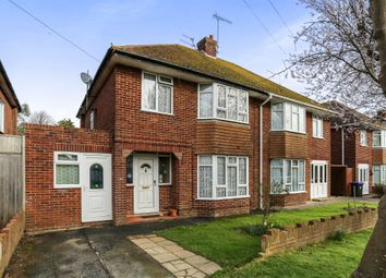 Thumbnail 3 bed semi-detached house for sale in Nelson Road, Goring-By-Sea, Worthing