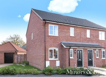 Thumbnail 3 bedroom semi-detached house for sale in Burnt Fen Way, Hoveton, Norwich