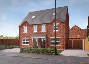 Thumbnail 3 bed semi-detached house for sale in Churchill Road, Yaddlethorpe Grange, Scunthorpe