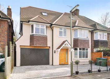 Thumbnail 5 bed semi-detached house for sale in Cleveland Close, Walton-On-Thames, Surrey
