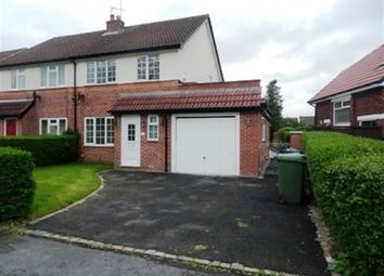 Thumbnail 3 bed semi-detached house to rent in Dombey Road, Poynton, Stockport