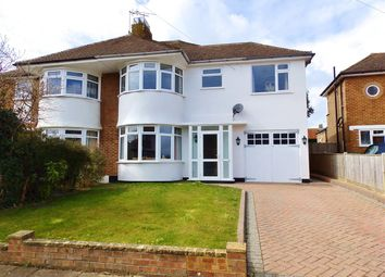 Thumbnail 4 bed semi-detached house for sale in Freeman Avenue, Eastbourne
