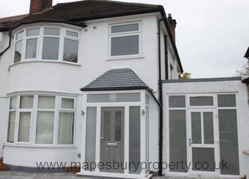 Thumbnail 3 bed semi-detached house to rent in Oxgate Gardens, Dollis Hill