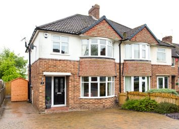 Thumbnail 3 bed semi-detached house for sale in The Close, Alwoodley, Leeds, West Yorkshire