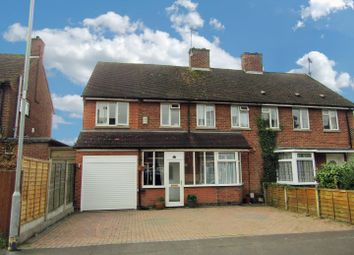 Thumbnail 4 bedroom semi-detached house for sale in Red Hill Avenue, Narborough, Leicester