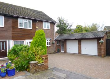 Thumbnail 3 bed semi-detached house to rent in Larken Drive, Bushey Heath