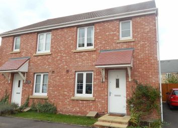 Thumbnail 3 bed semi-detached house to rent in Belland Hill, Eynesbury, St. Neots