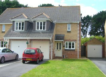 Thumbnail 3 bedroom semi-detached house to rent in Flazen Close, Knighton Heath, Bournemouth