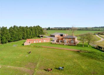 Thumbnail 4 bed equestrian property for sale in Glebe Farm, Low Hameringham, Horncastle, Lincolnshire