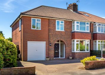 Thumbnail 5 bed semi-detached house for sale in Hunters Way, York