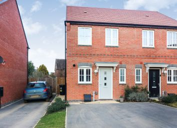 Thumbnail 2 bed semi-detached house for sale in Elborow Way, Cawston, Rugby