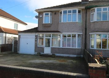 Thumbnail 3 bed semi-detached house for sale in Kingsmead Drive, Woolton, Liverpool