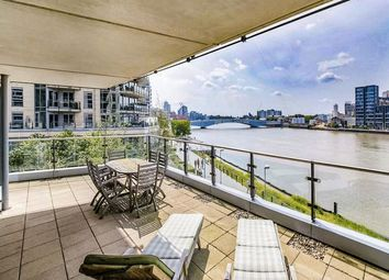 Thumbnail 3 bed flat to rent in Ensign House, Battersea Reach, London