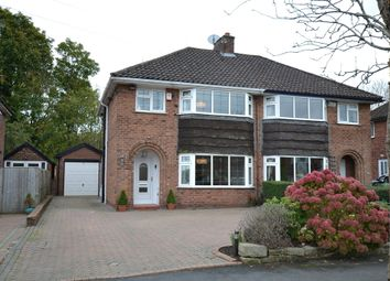Thumbnail 3 bed semi-detached house for sale in Dean Drive, Wilmslow