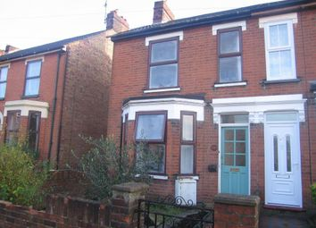Thumbnail 2 bed semi-detached house to rent in Wellesley Road, Ipswich