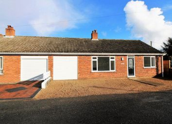 Thumbnail 2 bed semi-detached bungalow for sale in Cheneys Lane, Tacolneston, Norwich