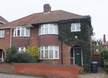 Thumbnail 3 bed semi-detached house to rent in Hill House Road, Thorpe Hamlet, Norwich