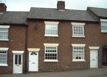 Thumbnail 1 bed terraced house to rent in Burton Street, Tutbury, Burton-On-Trent