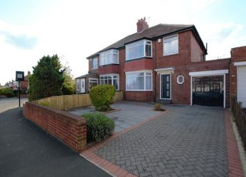 Thumbnail 3 bed semi-detached house for sale in Teviotdale Gardens, High Heaton, Newcastle Upon Tyne