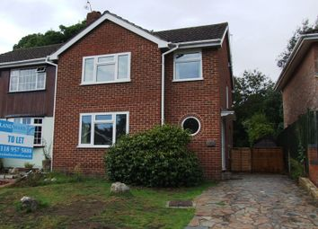 Thumbnail 3 bed semi-detached house to rent in Nightingale Road, Woodley, Reading