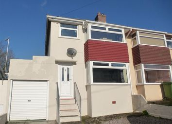 Thumbnail 3 bedroom semi-detached house for sale in Fanshawe Way, Plymstock, Plymouth