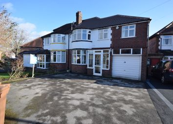 Thumbnail 4 bed semi-detached house for sale in Braemar Road, Solihull, West Midlands
