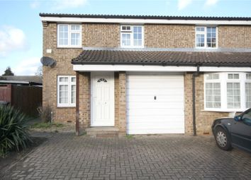 Thumbnail 3 bed semi-detached house to rent in Hazelbank Road, Chertsey, Surrey