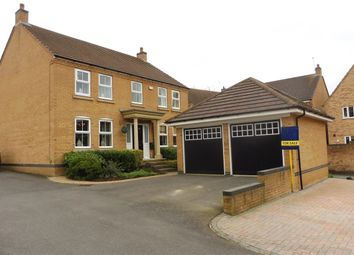 Thumbnail 4 bedroom detached house for sale in Newbury Close, Corby