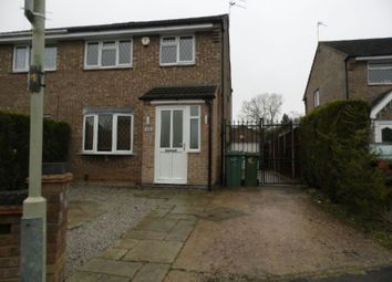 Thumbnail 3 bed semi-detached house to rent in Southfield Close, Glen Parva, Leicester