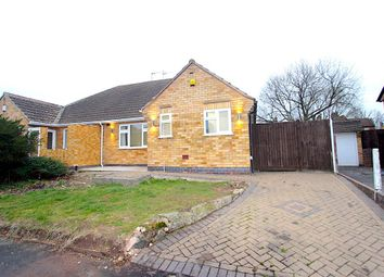 Thumbnail 2 bed semi-detached bungalow for sale in Armson Avenue, Kirby Muxloe, Leicester