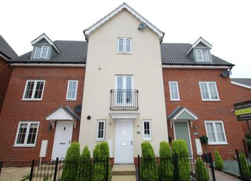 Thumbnail 3 bed town house for sale in Curlew Close, Stowmarket