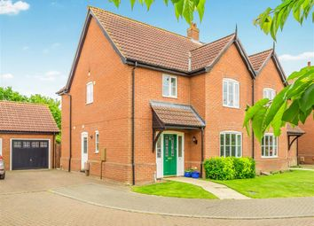 Thumbnail 3 bed semi-detached house for sale in Adey Close, Aylsham, Norwich