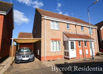 Thumbnail 3 bed semi-detached house for sale in Jack Plummer Way, Caister-On-Sea, Great Yarmouth