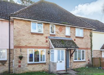 Thumbnail 2 bed terraced house for sale in Kestrel Close, Beck Row, Bury St. Edmunds