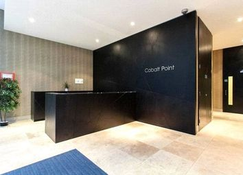 Thumbnail 1 bed flat to rent in Cobalt Point, Millharbour, London
