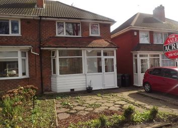Thumbnail 3 bed end terrace house for sale in Birdbrook Road, Great Barr, Birmingham