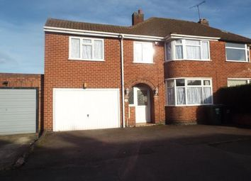 Thumbnail 5 bedroom semi-detached house for sale in Woodgate Drive, Birstall, Leicester, Leicestershire