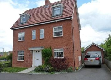 Thumbnail 4 bedroom detached house to rent in Chaffinch Road, Bury St. Edmunds