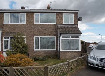 Thumbnail 3 bed semi-detached house for sale in Chevington Close, Morpeth