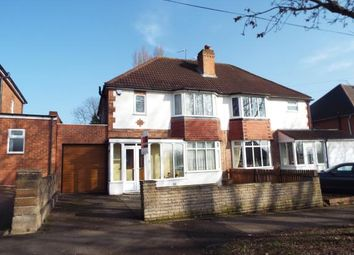 Thumbnail 3 bed semi-detached house for sale in Crossway Lane, Birmingham, West Midlands