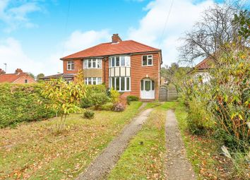 Thumbnail 3 bed semi-detached house for sale in Taverham Road, Taverham, Norwich