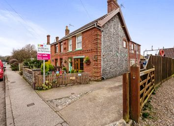 Thumbnail 3 bed semi-detached house for sale in The Street, Corton, Lowestoft