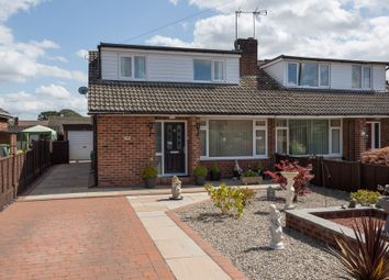 Thumbnail 3 bed semi-detached bungalow for sale in Meadowfields Close, Easingwold, York