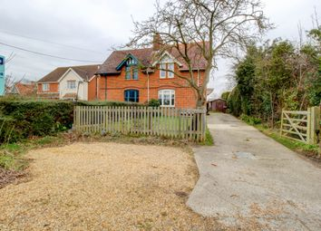 Thumbnail 3 bed semi-detached house for sale in Eustons, Top Road, Rattlesden, Bury St. Edmunds