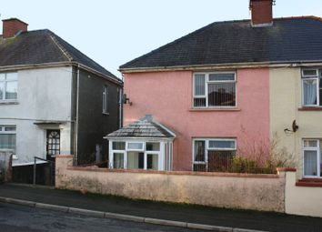 Thumbnail Semi-detached house for sale in Precelly Place, Milford Haven, Pembrokeshire